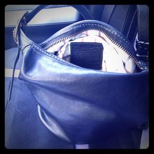 Coach #11422 Black leather bucket.